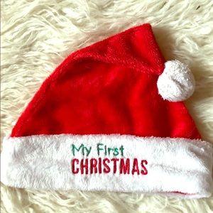 Baby First Christmas Santa Hat ⭐️